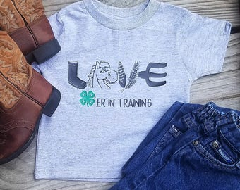 4-H Horse Love in training toddler Tee