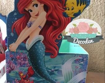 Centerpiece Mermaid, La sirenita,  Ariel