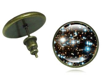 Galaxy Earrings,Night Sky Stud Earrings,Cosmos Earrings Jewelry,Outer Space Earrings Jewelry,Universe Jewelry Earrings