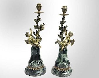 "Bronze Candlestick ""Cupids"""