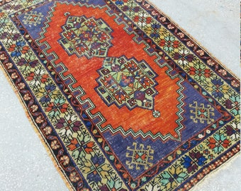 Vintage Oushak Rug,Turkish Rug, Home Living,Vintage Rug,Floor Rugs,3'6''x6ft,Area Rug,Fashionoushak Rugs,Home Office Decor OUSHAK Carpet Rug