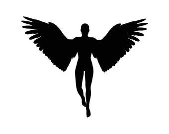 Angel Wings Holy Jesus Graphics SVG Dxf EPS Png Cdr Ai Pdf Vector Art Clipart instant download Digital Cut Print File Cricut Silhouette