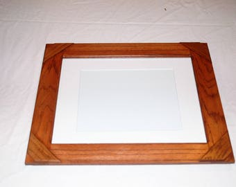 8 X 10 Picture frame with mat and backing
