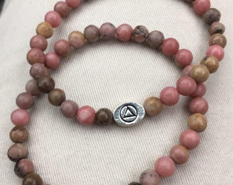 Beaded AA or NA recovery bracelets sponsor gift