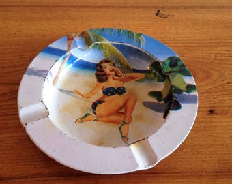 PIN - metal - vintage ashtray