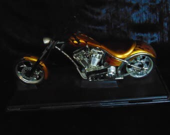 Vintage model chopper motorbike