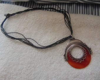 African Tribal Ethnic Mid Length Necklace