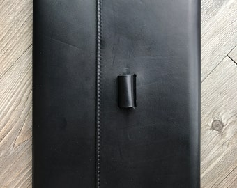 Black genuine leather journal, travel journal, Leather Notepad Cover, Leather Notebook Cover, Minimalist cover, Leather Journal Cover,
