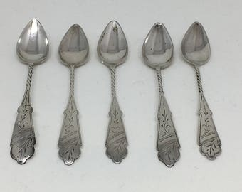 Antique silver tea/coffee spoons