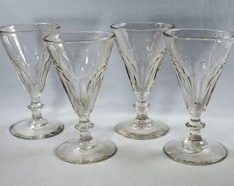 Antique 19 Century Glass Rummers