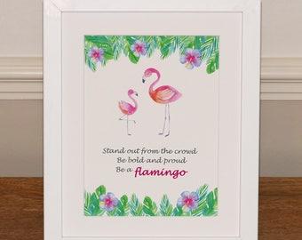 Flamingo gift- framed