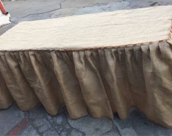 Lovely Burlap Tablecloth (Front Table Skirt)