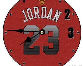 Michael Jordan Chicago Bulls Air Jordan Wall Clock Large 30CM/11.81in/ MDF CAN BE Personalised