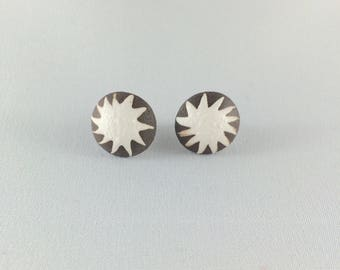 Black Stoneware Stud Earring