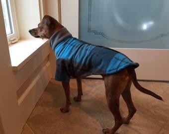 Blue Gray Plaid - Dog Coat - Poncho