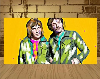 The MIghty Boosh Noel and Julian Poster art,MIghty Boosh Noel poster,Julian poster,Julian art,MIghty Boosh Noel print,arteork,comedy poster