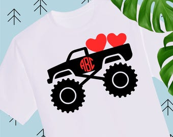 Boy Valentine SVG Valentine Truck Svg Valentines Day svg Valentine Shirts for Boys svg files for cricut silhouette truck svg cutting file