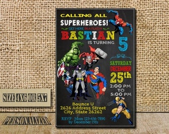 Superhero Invitation, Superhero Birthday, Superhero Invite, Superhero Party, Superhero Birthday Invite, Superhero Party Invite, Superhero