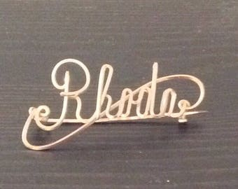 Vintage 1940's Ladies Pin- Rhoda