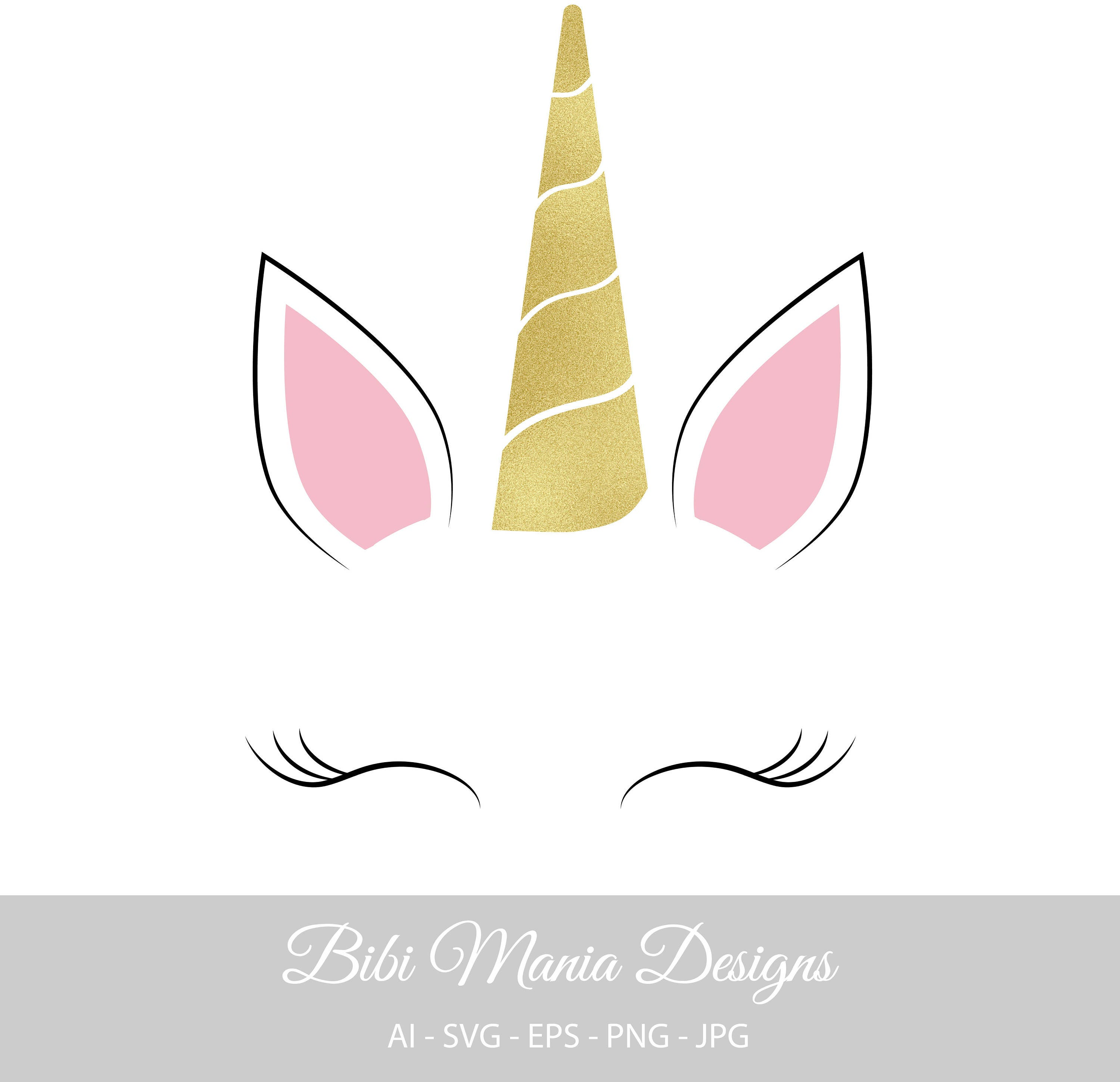 Unicorn SVG Unicorn Face Svg Unicorn Clipart Unicorn