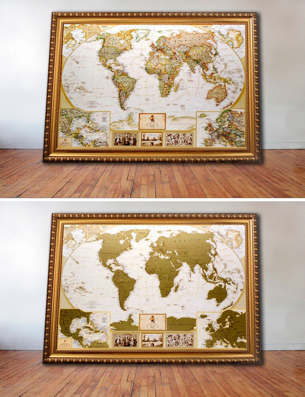 Large World Map Scratch Off  346 X 248 Inches Sold By Magicmap