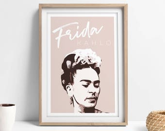 Frida Kahlo Poster, Frida Poster Feminism Wall Art, Frida Kahlo Wall Art, Frida Wall Art, The Future Is Female, Female Empowerment Printable