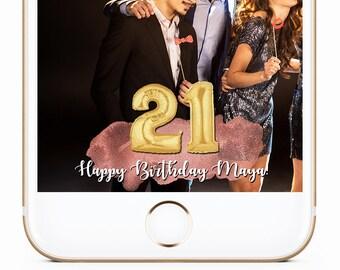 21st Birthday Geofilter, Birthday Snapchat Filter, Birthday Geofilter, 18th Birthday Geofilter, Any Age Geofilter