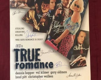 True Romance Handsigned Poster by 15 Cast Members