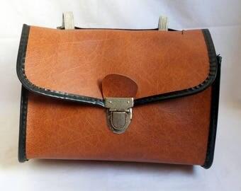 Vintage 1960's 1970's handlebar bike bag / bike / Lady man cyclist gift / stem bag / bicycle pannier