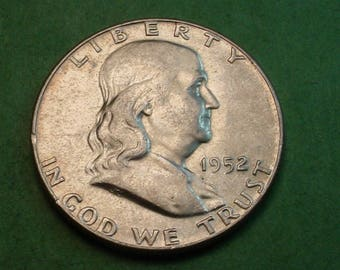 Franklin Half Dollar 1952 AU<> # ET3681