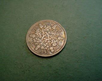 1935 Great Britain 6 Pence  Free SH.<>ET6191