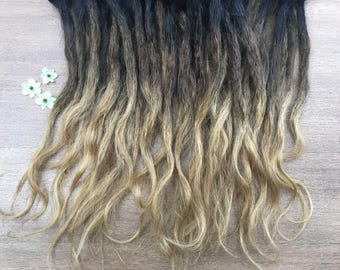 Ombre Human Hair Dreadlock Extensions