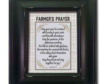 Farmer's Prayer - Framed Art