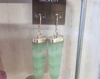 Green Adventurine Drop Earrings