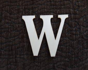 """letter """"W"""" wooden block"""