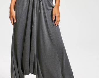 Drop bottom harem pants/ Low crotch pants/ Loose pants/ Plus size/ Casual wear/ Cotton pants/ Yoga pants/ Big baggy pants