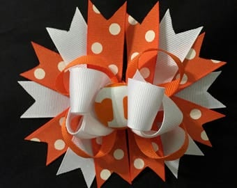 Tennessee Embellished Collegiate Hair Bow