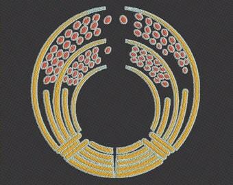 Embroidery japanese crest kamon dakiina