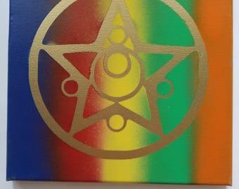 Crystal Star Sailor Moon Spray Paint Canvas