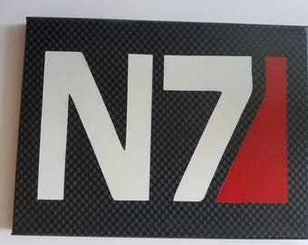 N7 Mass Effect 3 Spray Paint Canvas