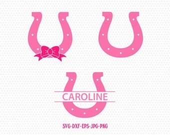 Horse Shoe SVG, Horse Hoof SVG, Horse Shoe Monogram,for CriCut Silhouette cameo Files svg jpg png dxf