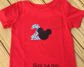 minnie mickey mouse birthday shirt