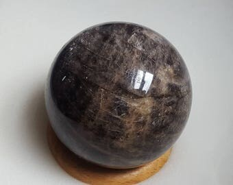 Wonderful 75mm Black Moonstone Sphere from Madagascar the womb stone
