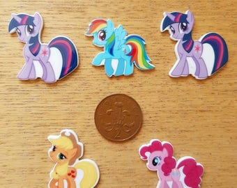 set of 5 my little pony embellishments