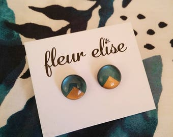 Hand Painted Glass Studs - 12mm