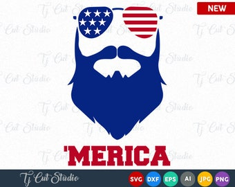 Merica SVG, American flag monogram frames, summer, 4th of July svg, Memorial Day, 4th of July Bow SVG, 4th of July SVG, T-Shirt Designs