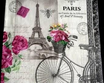 Paris bicycle paper towel