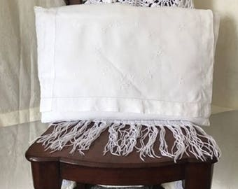Vintage antique embroidered pillow case/ cushion cover. Late Victorian/ Edwardian 19th century/ 20th century #12