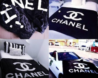 chanel bedding cheap. fleece blanket black. white silk bedding