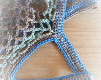 crocheted mesh bag, crochet market shopping tote bag